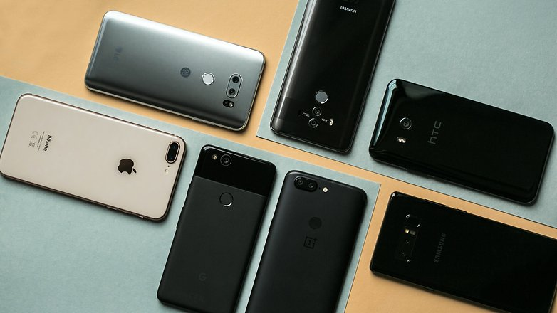 AndroidPIT LG V30 iPhone 8 plus Galaxy Note 8 One Plus 5T HTC U11 Google Pixel 2 Huawei Mate 10Pro 5630